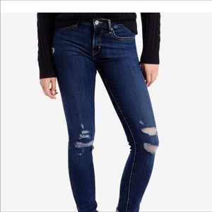 Levi's 711 Skinny Leg distressed Denim Jeans